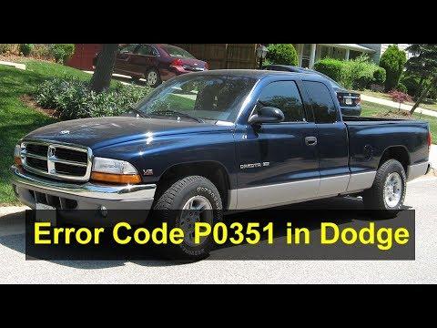 Dodge Dakota error code P0351, stalling, shutting off, running rough, etc   - VOTD