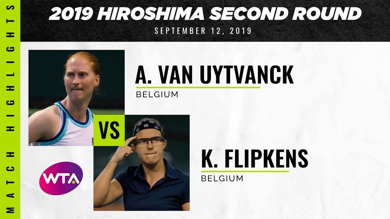 Alison Van Uytvanck vs. Kirsten Flipkens | 2019 Hiroshima Second Round | WTA Highlights
