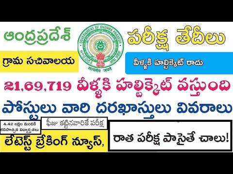 Ap grama sachivalaya jobs Exam Dates 2019 || Apply Applications Halltickets