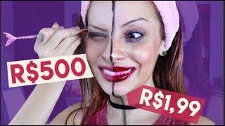 MAQUIAGEM DE R$1,99 X MAQUIAGEM DE R$500 | Que diabos?