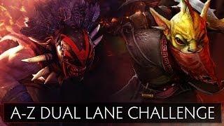 Dota 2 A-Z Dual Lane Challenge - Bloodseeker and Bounty Hunter
