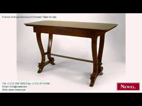 French Antique Davenport Victorian Tables for Sale