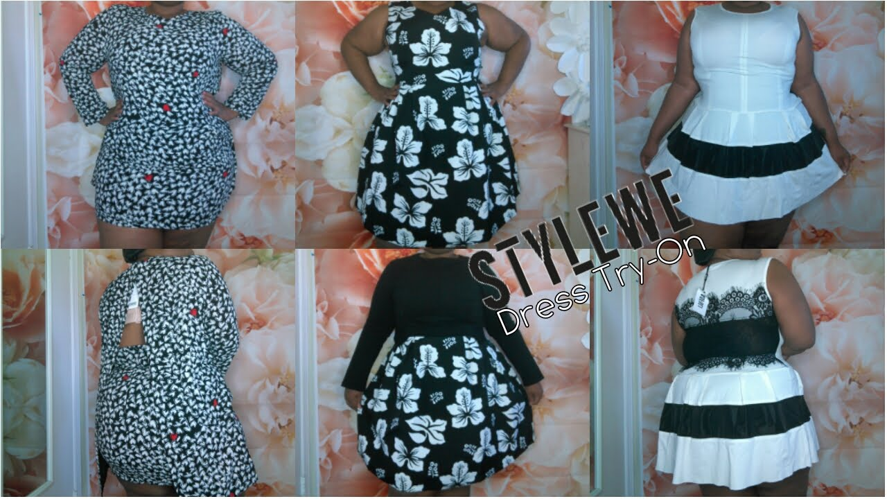 StyleWe | Spring/Summer Plus Size Dress Try-On | Amazing Quality | Black &  White