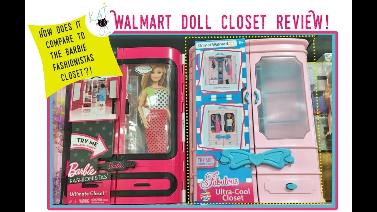 Walmart Fashion Doll Closet Review Youtube