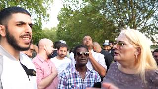 Stop Praying! EDL? Tommy Robinson fans!? Ali Dawah Vs Visitor | Speakers Corner | Hyde Park