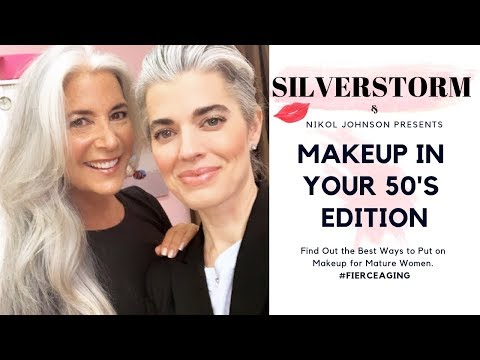 HOW TO APPLY MAKEUP IN YOUR 50'S    #FIERCEAGING Series    Nikol Johnson thumbnail