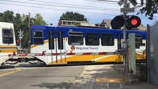 sacramento light rail train tram 133 repainted 2nd avenue sacramento ca