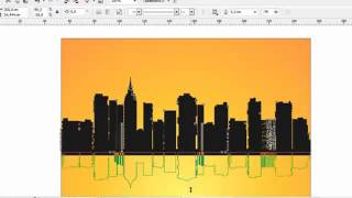 Уроки Корел. CorelDRAW для продвинутых. ''''Отражение города в воде'''' (18) Хорошее качество видео