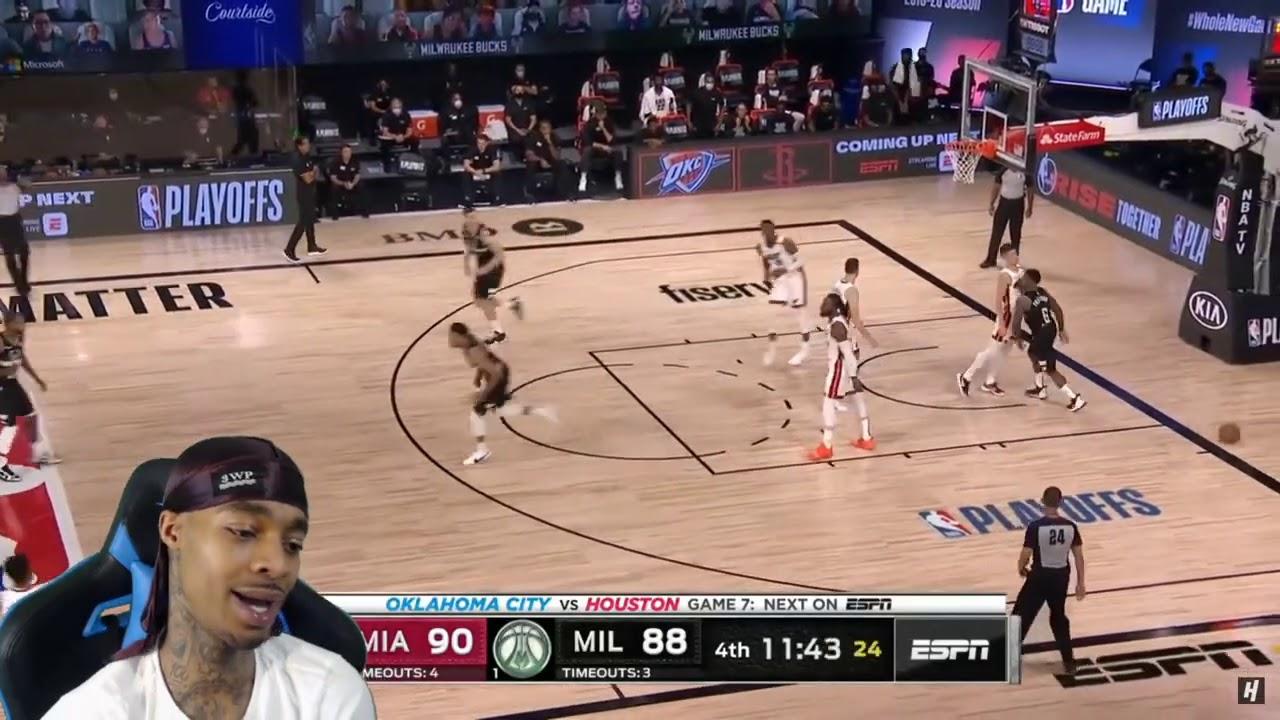 FlightReacts Heat vs Milwaukee Bucks - Full Game 2 ...