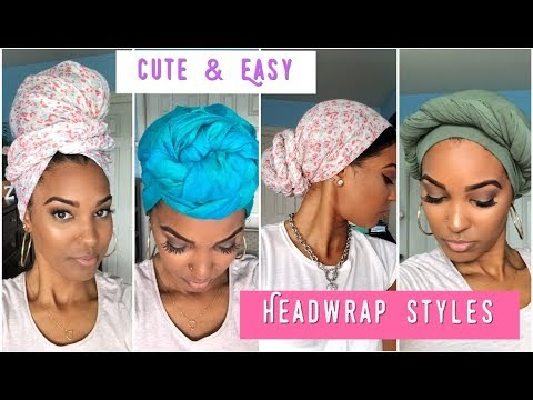 4 Easy Turban Headwrap Styles Tutorial Natural Hair Zitarose Youtube
