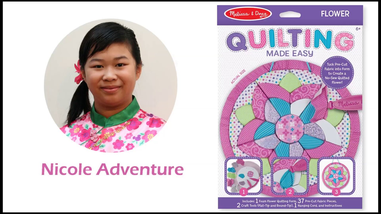 Melissa Doug Quilting Made Easy Flower Toy Nicole