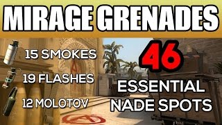 CS:GO - Mirage Smokes, Flashes and Molotovs - A Complete Guide (2016)