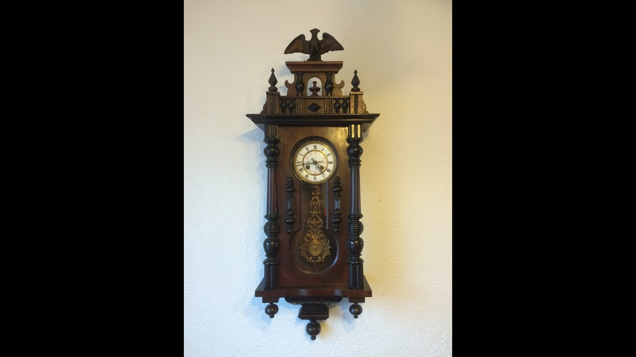 Antique Wall Clock Made By German Manufacturer From 1900 39 S