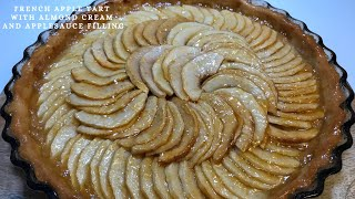 Eng APPLE PIE WITH ALMOND CREAM AND APPLESAUCE (TARTE AUX POMMES)