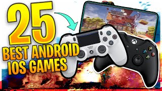 TOP 25 Best FREE Android & iOS Games With Controller Support [Offline/Online]