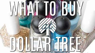WHAT TO BUY AT DOLLAR TREE | MAKEUP, NAILS & NAIL POLISH WORTH BUYING