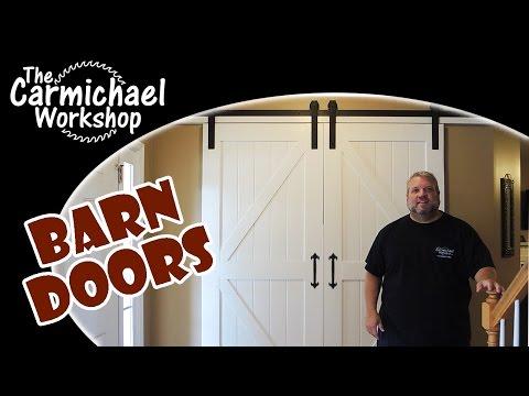 DIY Sliding Barn Doors // How-To Woodworking