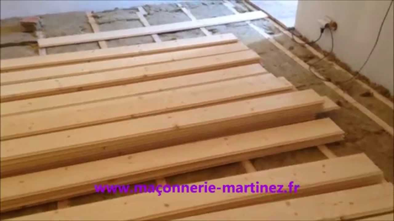 pose de parquet sur lambourdes isolation laine de roche youtube. Black Bedroom Furniture Sets. Home Design Ideas