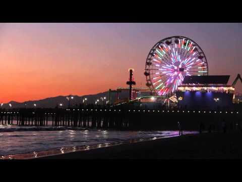 "Santa Monica, California ""Ocean Waves Crashing ""Relaxation Meditation"""