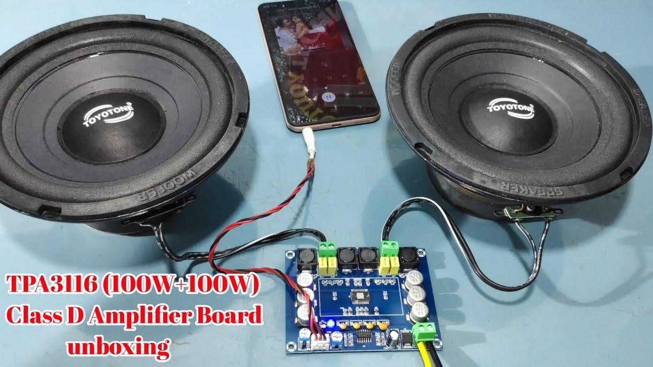 TPA3116 (100W+100W) Class D Amplifier Board unboxing