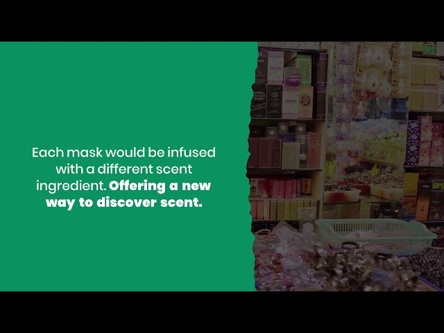 the world's first scented mask