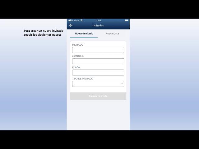 Cómo crear un invitado o una lista de invitados