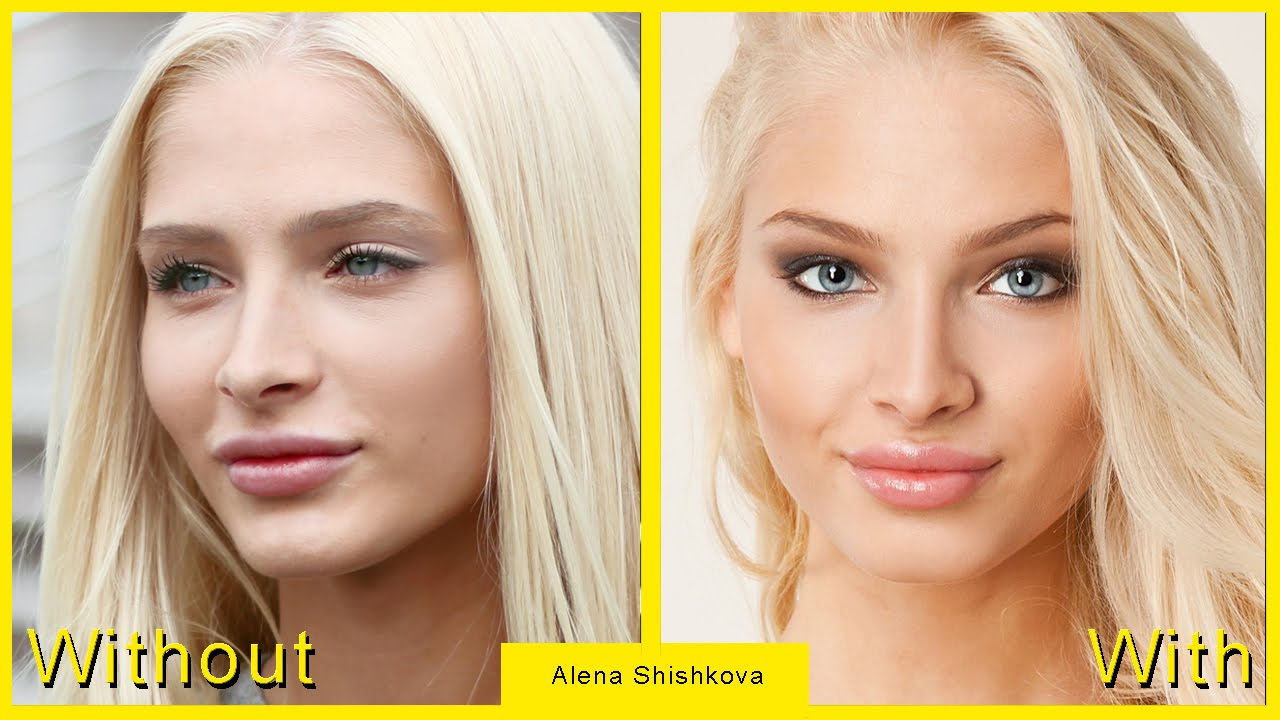 Alena Shishkova cannot be found without makeup