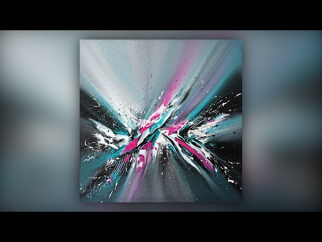 Easy Abstract Painting Techniques / Acrylics / Palette Knife / Demo #031