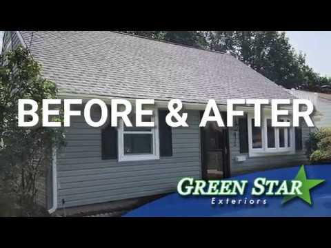 Green Star Exteriors - Before & After (Roofing, Windows, Siding & Doors Project)