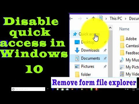 disable quick access in windows 10 ||remove from file explorer in Hindi