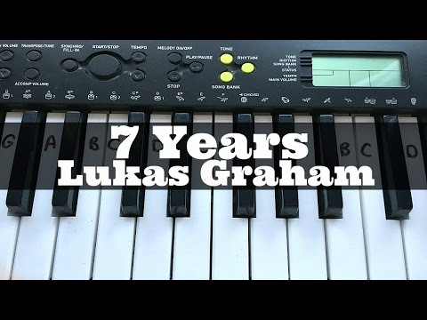 7 Years - Lukas Graham | Easy Keyboard Tutorial With Notes (Right Hand)