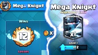 BEST MEGA KNIGHT 12 WIN DECK | Clash Royale | How to Mega Knight Challenge