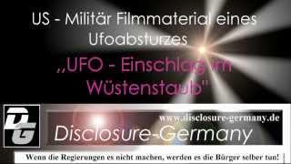 Ufo Einschlag im Wüstenstaub HD Militärfilmmaterial - Ufo Absturz- deutsch