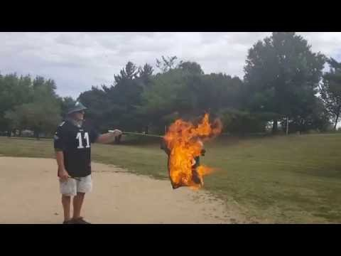 Burning my old Trust Chip jersey. Week 1 2016