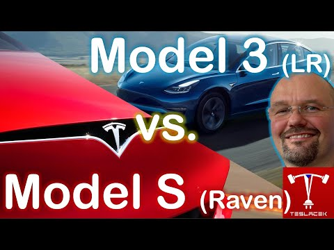 #182 Tesla Model S Raven vs. Tesla Model 3 Long Range (v.2) | Teslacek