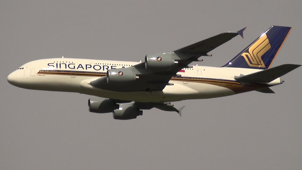 Singapore Airlines Airbus A-380 RC Turbine Radio Controlled XXL Model  Airliner Full HD 1080