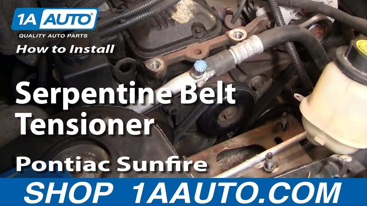 How To Install Replace Serpentine Belt Tensioner Chevy Cavalier Starting Wiring Diagram 98 Pontiac Sunfire 95 97 1aautocom Youtube