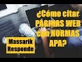 Citar Documento de Sitio Web Con Normas APA - YouTube