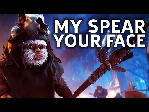 Become The Ewok  Star Wars Battlefront 2 Gameplay