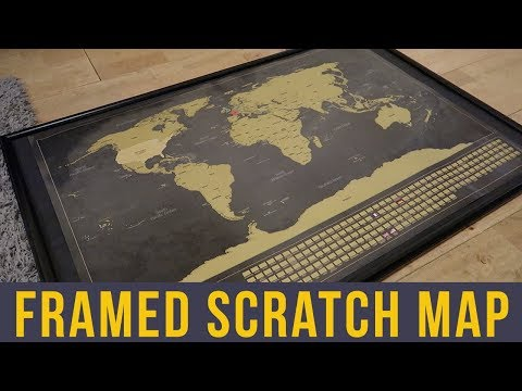 HOW TO DISPLAY YOUR SCRATCH MAP