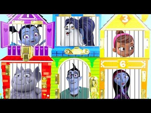 Vampirina Disney Jr Jail Rescue Game   Surprise Toys Kids Junior Puppy Dog Pals Scare B&B Dollhouse!