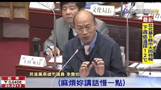 台語質詢連珠炮韓市長兩度求饒聽不懂