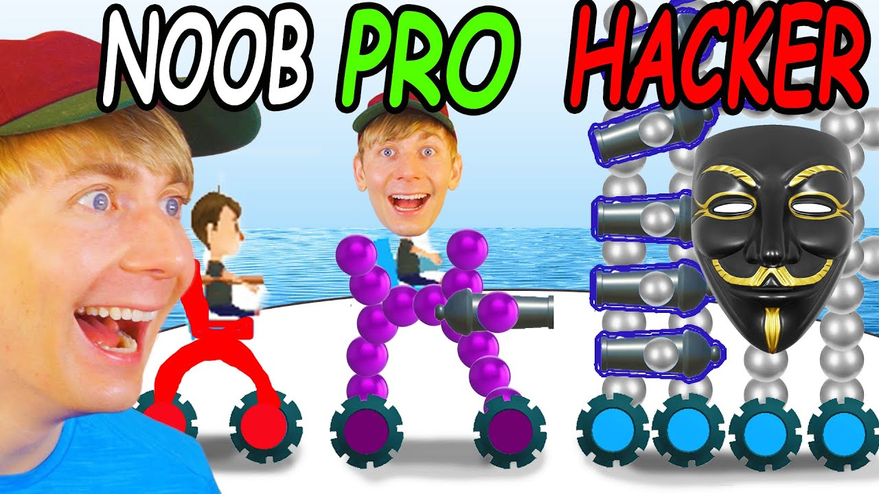 Download Can I Go NOOB vs PRO vs HACKER in DRAW JOUST (MAX LEVEL)