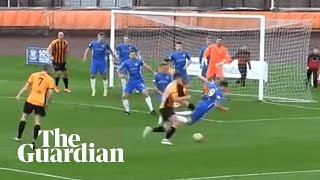 Cowdenbeath striker concedes penalty with head-first tackle