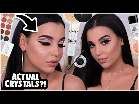 EASY + AFFORDABLE NYE PARTY GLAM MAKEUP TUTORIAL USING CRYSTALS!| MakeupByAmarie