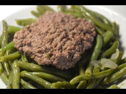 recette-cookeo-steaks-hachés-haricots-verts