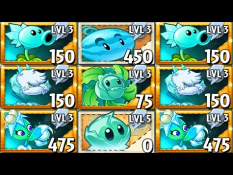 All Ice Plants Power-Up! in Plants vs Zombies 2