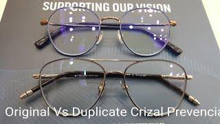 Original Vs Duplicate Crizal Prevencia . How to identify Original Crizal Prevencia ??