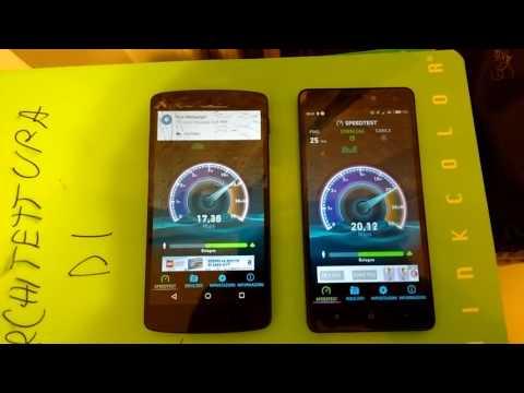 Reti 4G a confronto - Tim vs H3g (3 Italia) speedtest
