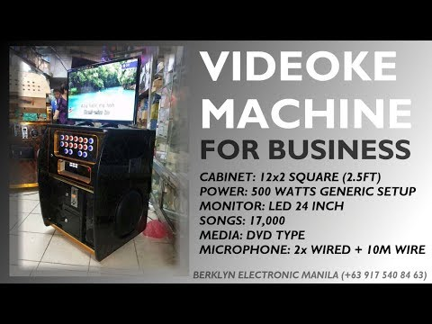 Portable Videoke 12x2 SQ 500watts with Platinum Reyna Demo - Berklyn Electronics Manila
